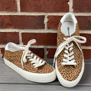 Madewell Sidewalk Spot Dot Calf Hair Sneakers